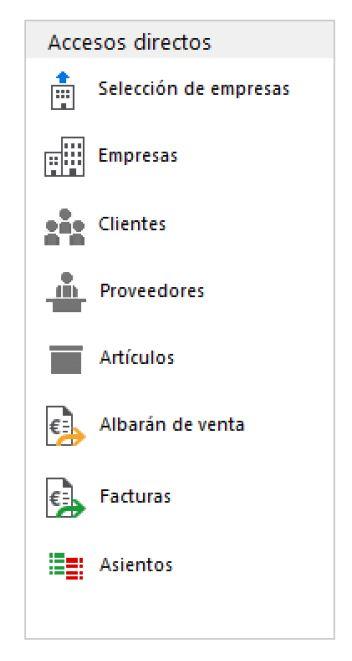 widget accesos directos