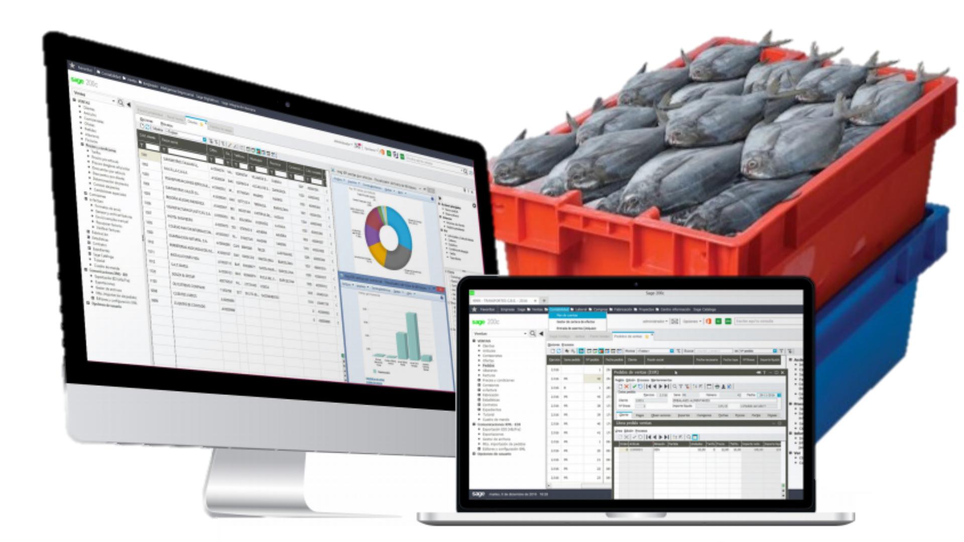 software de gestión de pescados